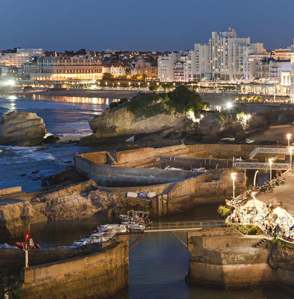 Panorama biarritz port des pecheurs et grande plage